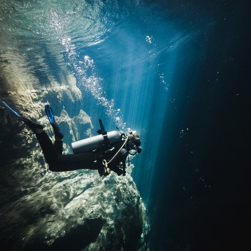 CENOTE DIVING IN THE PIT-DOS OJOS