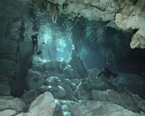cenote diving in Barbie Line is breathtaking